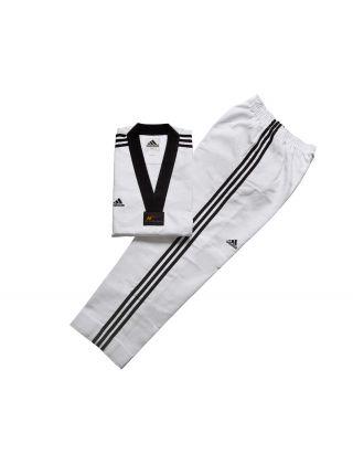 Добок для тхэквондо Adidas WTF ADI-SUPERMASTER 2 белый с черным воротником