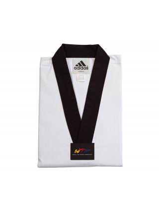Добок для тхэквондо Adidas WTF ADI-CHAMPION 2 белый с черным воротником