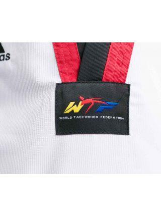 Добок для тхэквондо Adidas WTF ADI-START белый с красно-черным воротником