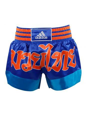 Шорты для тайского бокса Adidas Sublimated сине-оранжевые