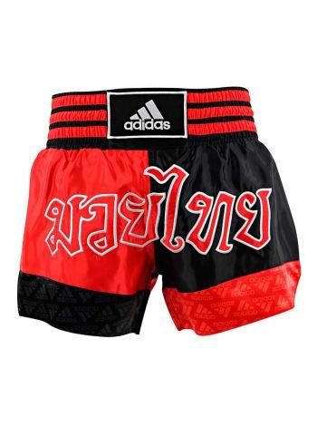 Шорты для тайского бокса Adidas Sublimated красно-черные