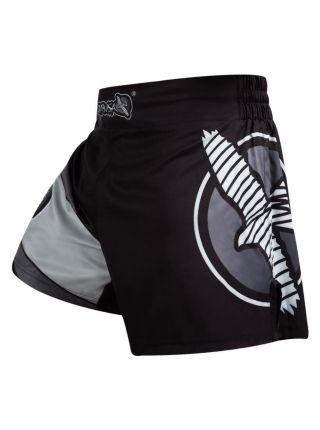 Шорты для кикбоксинга Hayabusa Kickboxing черно-серые