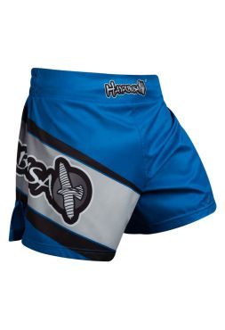Шорты для кикбоксинга Hayabusa Kickboxing черно-синие