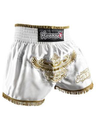 Шорты для тайского бокса Hayabusa Garuda белые
