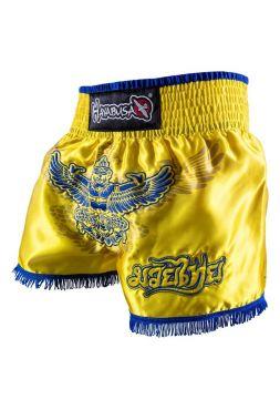 Шорты для тайского бокса Hayabusa Garuda желтые