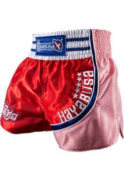 Шорты для тайского бокса Hayabusa Lion Warrior красно-синие