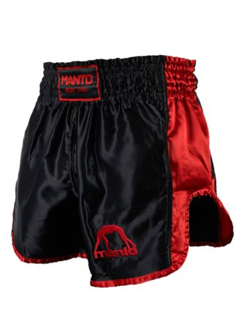 Шорты для тайского бокса MANTO VIBE черно-красные