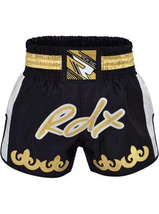 Шорты для тайского бокса RDX Pale Gold черные