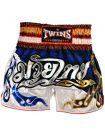 Шорты для тайского бокса TWINS Blue Tartan TWS-852