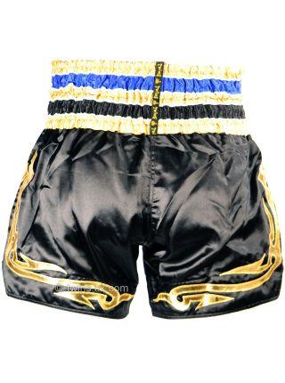 Шорты для тайского бокса TWINS сине-золотые TWS-856