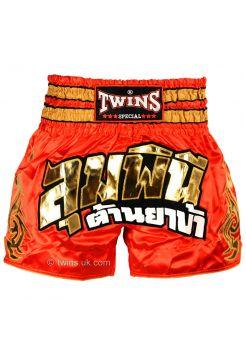 Шорты для тайского бокса TWINS красно-золотые TWS-861