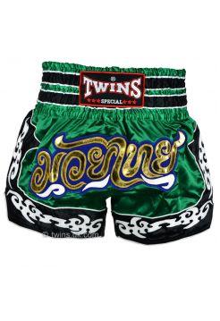 Шорты для тайского бокса TWINS TWS-865 зеленые