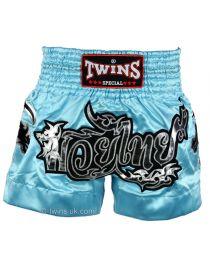 Шорты для тайского бокса TWINS голубые TWS-867