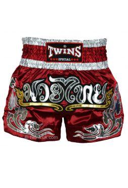 Шорты для тайского бокса TWINS TWS-868 бордовые