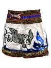 Шорты для тайского бокса TWINS TWS-871 бело-синие