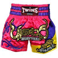 Шорты для тайского бокса TWINS пурпурно-розовые TWS-884