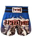 Шорты для тайского бокса TWINS синие сублимированные TWS-SUB1