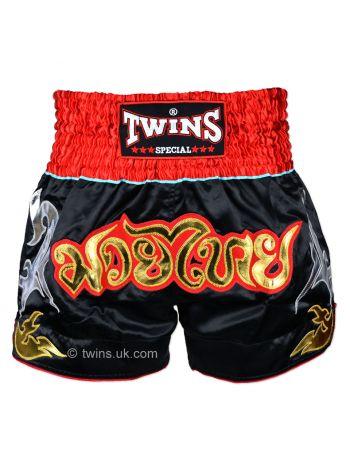 Шорты для тайского бокса Twins TWS-005 черно-красные
