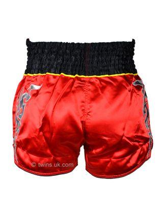 Шорты для тайского бокса Twins TWS-006 красно-черные