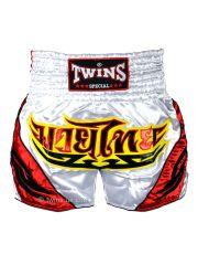 Шорты для тайского бокса Twins TWS-009 бело-красные