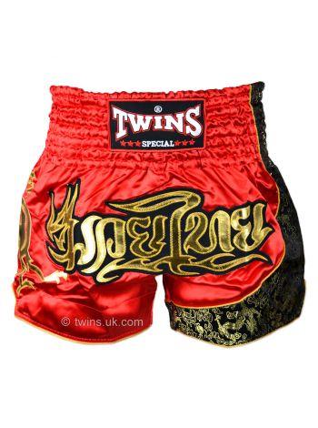 Шорты для тайского бокса Twins TWS-151 красно-золотые