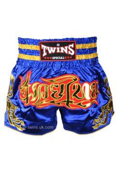 Шорты для тайского бокса Twins TWS-152 сине-золотые