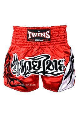 Шорты для тайского бокса Twins TWS-155 красно-белые