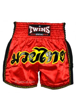 Шорты для тайского бокса Twins TWS-911 красные