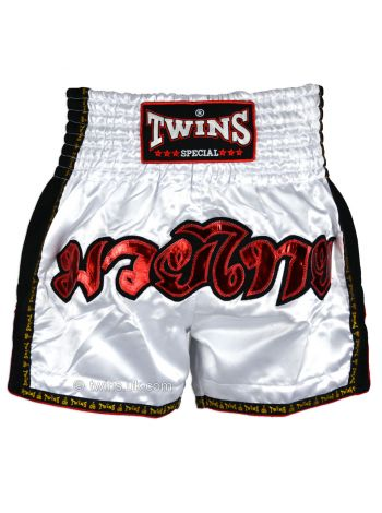 Шорты для тайского бокса Twins TWS-912 белые