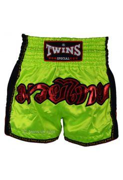 Шорты для тайского бокса Twins TWS-915B зеленые