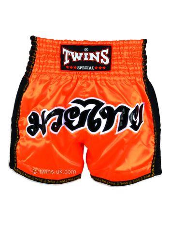 Шорты для тайского бокса Twins TWS-916 оранжевые