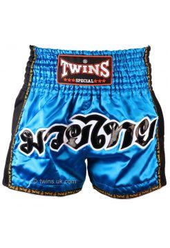 Шорты для тайского бокса Twins TWS-917 голубые