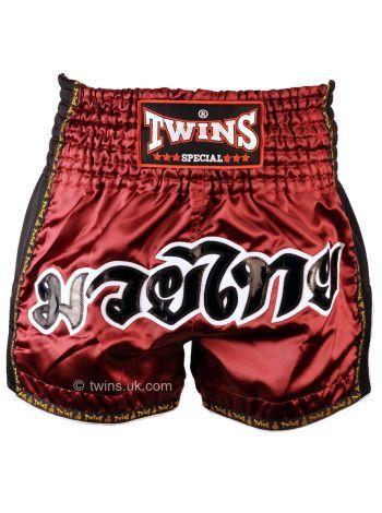 Шорты для тайского бокса Twins TWS-918 бордовые