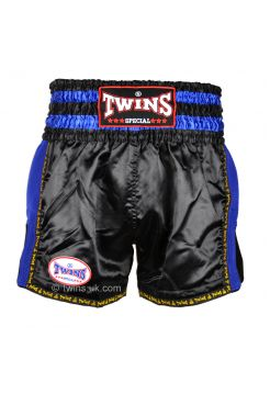 Шорты для тайского бокса Twins TWS-920 черно-синие