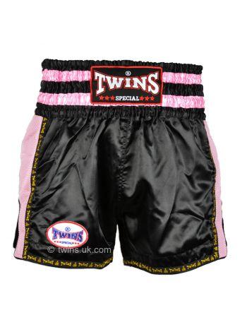 Шорты для тайского бокса Twins TWS-921 черно-розовые