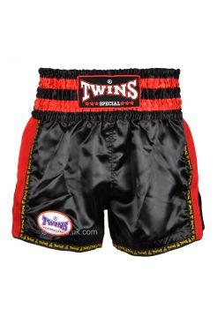 Шорты для тайского бокса Twins TWS-922 черно-красные