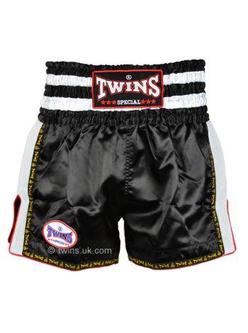 Шорты для тайского бокса Twins TWS-923 черно-белые