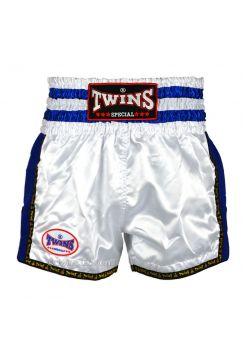 Шорты для тайского бокса Twins TWS-925 бело-синие