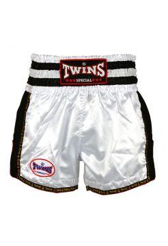 Шорты для тайского бокса Twins TWS-928 бело-черные
