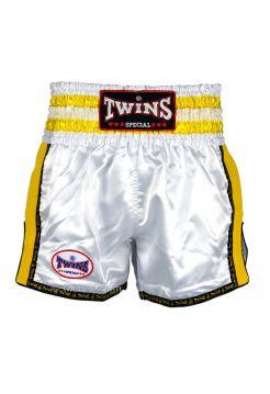 Шорты для тайского бокса Twins TWS-929 бело-желтые