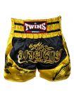 Шорты для тайского бокса Twins TWS-Dragon-2 черно-золотые