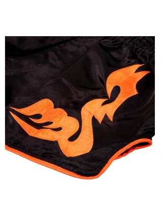 Шорты для тайского бокса VENUM BANGKOK INFERNO черно-оранжевые