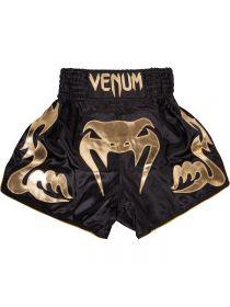 Шорты для тайского бокса Venum черно-золотые Bangkok Inferno