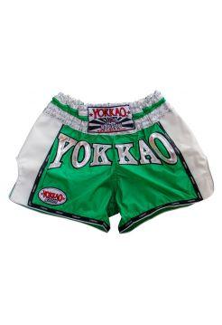 Шорты для тайского бокса Yokkao Airtech Carbon зеленые