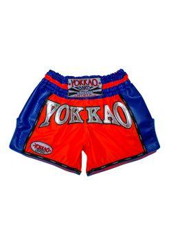 Шорты для тайского бокса Yokkao Airtech Carbon красно-синие