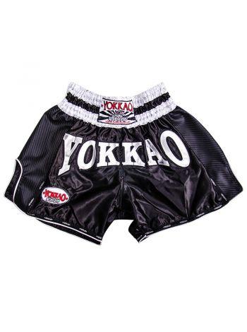 Шорты для тайского бокса Yokkao Carbon черные