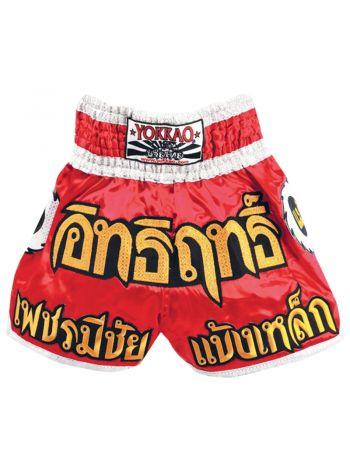 Шорты для тайского бокса Yokkao Blade Runner красные