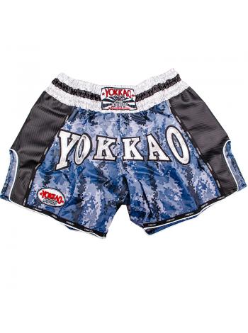 Шорты для тайского бокса Yokkao Blue Army Carbon