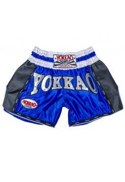 Шорты для тайского бокса Yokkao Carbon синие