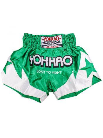 Шорты для тайского бокса Yokkao BORN TO FIGHT 2.0 зеленые